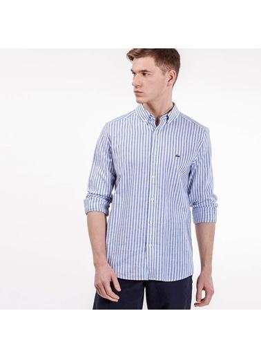 Çizgili Slim Fit Uzun Kollu Gömlek-Lacoste